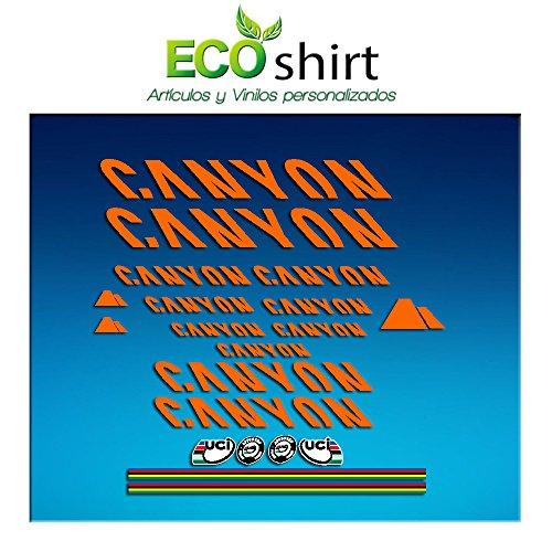 Ecoshirt, CF-1874-3KRW, Aufkleber Canyon Bike Aufkleber Decals Sticker Frame, Orange