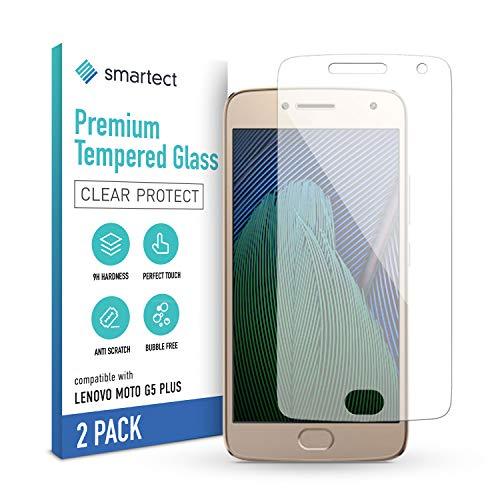 smartect Schutzglas kompatibel mit Lenovo Moto G5 Plus [2 Stück] - Tempered Glass mit 9H Festigkeit - Blasenfreie Schutzfolie - Anti-Kratzer Bildschirmschutzfolie