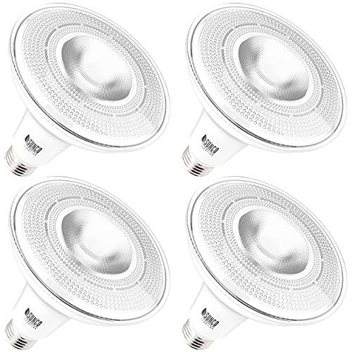 Sunco Lighting 4 Pack PAR38 LED Bulb...
