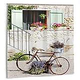 huagu Set de Cortinas de baño para decoración de baño,Cortinas de baño de Tela púrpura para Bicicleta y casa con Ganchos 60x72in