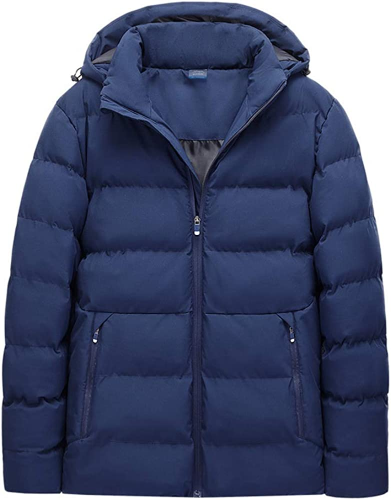 Men's Warm Quilted Winter Coat Outerwear Electric Heating Hooded Jakcet Coat(Battery Pack Not Included)