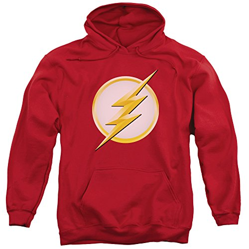 The Flash Season 2 Logo - CW's The Flash TV Show Adult Hoodie Sweatshirt, Medium Red