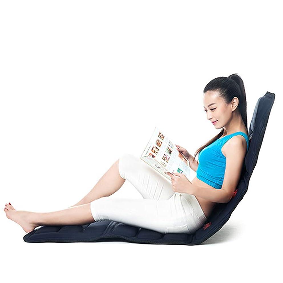 ランチョンペダル定期的に全身加熱マッサージマットレス、9振動モーターマッサージマットレス、首/背中/ウエスト/脚の痛みを和らげるための全身マッサージクッション,Heated