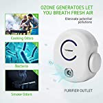 Vivosun 2-pack plug-in mini ionic air purifier ozone generator - portable odor eliminator, adjustable efficiency 10-50mg… 11 freshen your life: designed for domestic use, place this ozone generator wherever odors permeate like dressing rooms, dining rooms, kitchens, bathrooms, basements, and rooms with pets. Best used within enclosed spaces. Range: from 10–50mg/hr. Fitting for different environments and equipped with a performance indicator light. Vivosun air purifier only emits little to no noise while it in operating. Modern design: plug in to use, easy to carry. Just turn the wheel to start and regulate the production of ozone. Easy to use and transport.