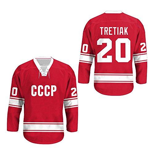 borizcustoms Vladislav Tretiak USSR CCCP Russian Hockey Jersey Away Sewn Stitch XS-2XL Halloween Shirt (46)