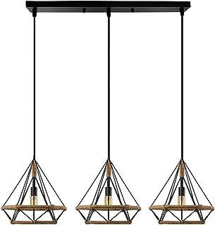 Mengjay Lámpara Colgante Vintage,Luz de Techo Retro,Iluminación Suspensión industrial cuerda de cáñamo Loft luz E27,Diámetro 25 cm,Luz de cuerda industrial,Luz Colgante Industrial