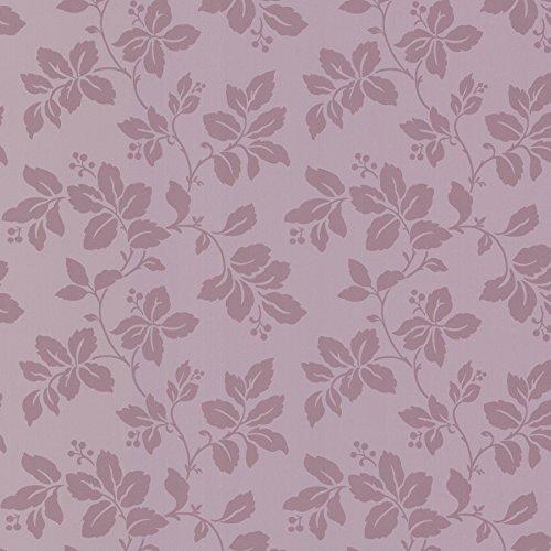 BHF fd68768'Claremont Foglia di rosa carta da parati, colore: viola