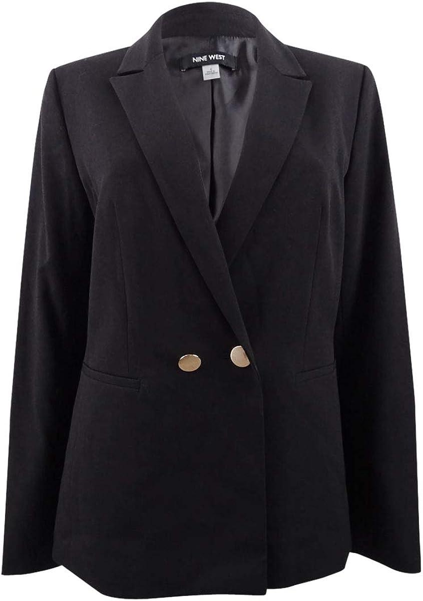 NINE WEST Women's 1 Button Notch Collar Stretch Jacket