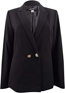 Nine West Women's 2 Button Peak Collar Double Breasted Jacket