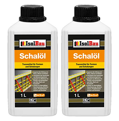 2 Liter Schalöl Professional Schaloel Trennmittel Betontrennmittel Schalungsöl Trennmittel für Formen und Schalungen Holz Metall Matrizenschalungen Mischerschutz