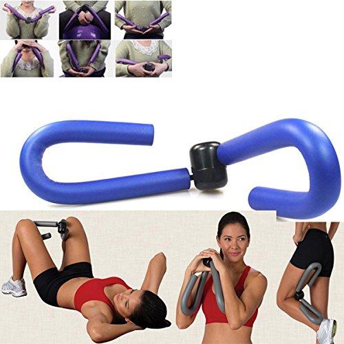 ASUMAN Thigh Master Fitness - Máquina de ejercicio para cuerpo, piernas, brazos, musculares, equipo de gimnasio en casa, modelador de piernas, color azul