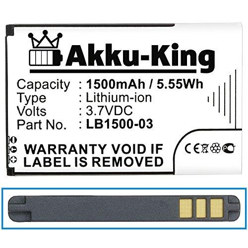 Akku-King Akku kompatibel mit Huawei LB1500-03 - Li-Ion 1500mAh - für T5, E5331, ideos X5, Trekstor WLAN, T-Mobile Pulse, 4G Systems XSBox GO WLAN Hotspot