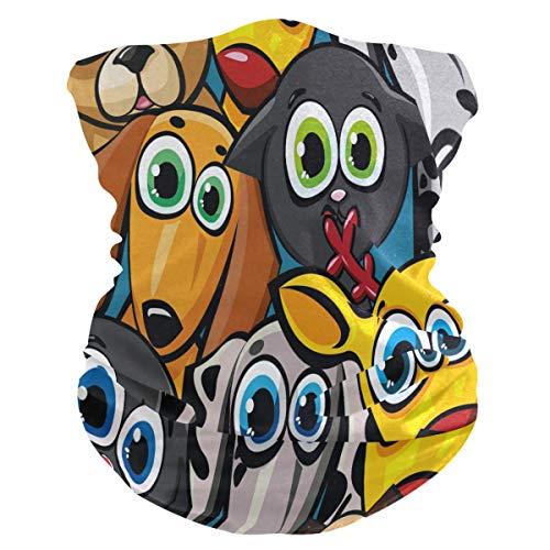 Cartoon Mouse Muizen Gezicht Masker Hoofdband Bandana Balaclavas Neck Gaiter Magic Sjaal Hoofddeksels Hoofddeksels voor Outdoor Vrouwen Mannen