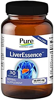 Pure Essence Labs LiverEssence - The World's Best Absorbed Milk Thistle Extract With Synergistic Liver Supp...