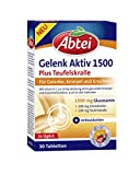 Abtei Gelenk Aktiv Plus Gelenktabletten (mit Vitamin C, hochwertige Tabletten zur Unterstützung der gesunden Knochen und Knorpelfunktion, glutenfrei) 30 Tabletten
