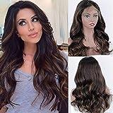Zana Wigs Human Hair Lace Front Wig Brazilian Body Wave Highlight Ombre Lace Front Wigs Human Hair Glueless Ombre Lace Wigs For Black Women 18Inch