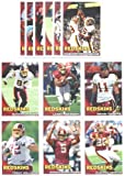 2010 Topps Washington Redskins Complete Team Set of 12 cards including Donovan McNab, Clinton Portis, Larry Johnson, Santana Moss, Trent Williams Rookie & mo... rookie card picture