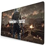 Ownspace Rainbow-Six-Siege Mouse Pad Novelty Non-Slip Mouse Pad 16x30 Inch Large Mousepad for Computer Laptop PC Large Keyboard Gaming