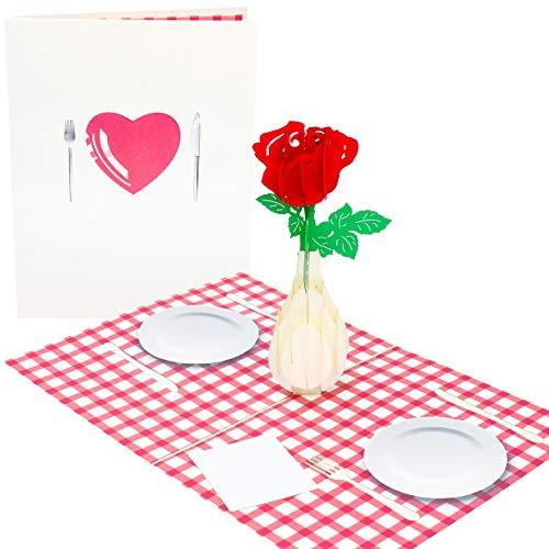 PopLife, biglietto romantico per due biglietti pop-up 3D per San Valentino, per compleanno, compleanno, prima data, sorpresa, festa della mamma, per moglie, fidanzato, fidanzato, fidanzato, marito