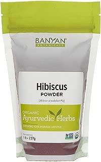 Banyan Botanicals Hibiscus Flower Powder 1/2 lb - USDA Organic - Hibiscus sabdariffa - for Hair, Skin, Women's Health*