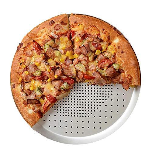 Bandeja para pizza de 9 pulgadas, antiadherente, con ventilación, bandeja para hornear pizza con agujeros, bandeja redonda para pizza, bandeja para horno, utensilios de cocina