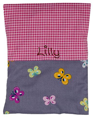 Wärmekissen Kinder mit Namen, Körnerkissen für Baby in verschiedenen Designs (pink)