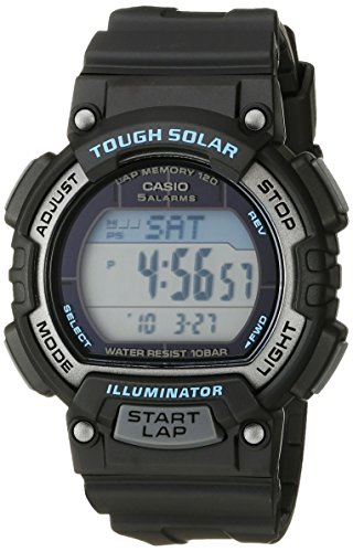 Casio Women's STL-S300H-1ACF Solar Runner Digital Display Quartz Black Watch