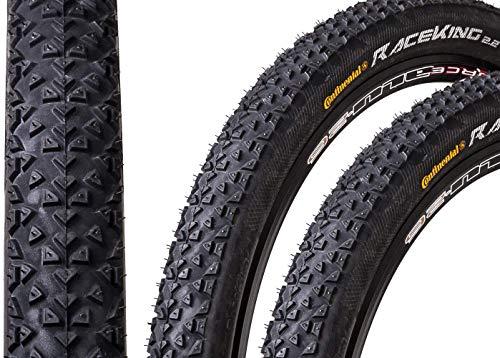 "2 Stück 26"" Zoll Continental Race King 2.2 Sport Fahrrad Reifen Mantel 55-559 schwarz"