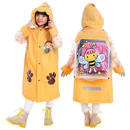 Vankra Chubasquero impermeable con capucha para niños y niñas