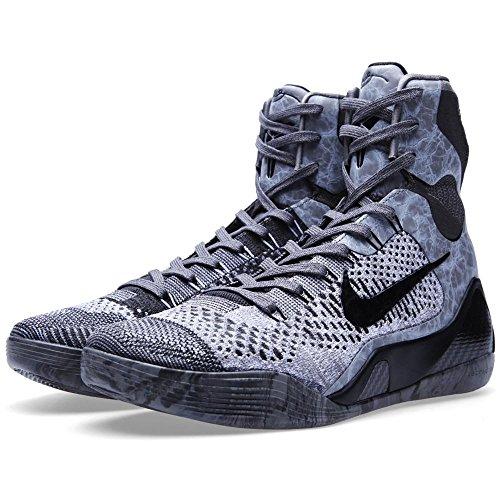 Men's Nike Kobe XI Elite Detail Basketball Shoes Dark Base Grey/Black Midnight 630847-003 Size 11