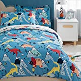 Bedsure Kids Twin Bedding Sets for Boys, Dinosaur...