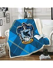 Harry Potter överkast med tjock varm fleece, lyxig bekväm plats komfort filt och camping utomhusfilt för vuxna barn, 8,130 x 150 cm