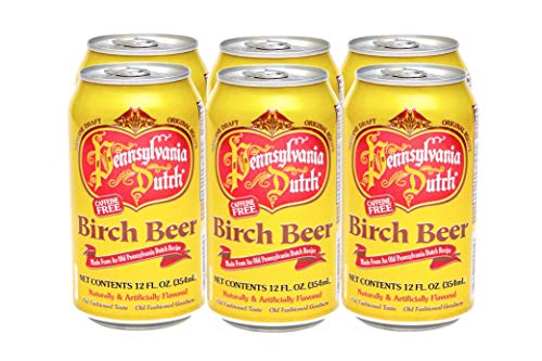 PA Dutch Birch Beer, Popular Amish Beverage, 12 Oz. Cans (Two 6-Packs)