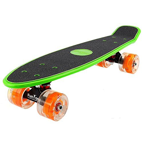 FunTomia Miniboard Cruiser Skateboard mit 70/65mm Big Wheel Rollen inkl. MACH1 ABEC-11 Kugellager