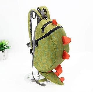 Children Kids Boys Girls Fashion Cute Cartoon 3D Dinosaur Shoulder School Bags New Anti Zhaozb (Color : Green)