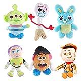 jgzwl Juguete de peluche6 Unids / Set Nuevo Pixar Plush Forky Woody Bunny Alien Buzz Lightyear Potato Head Peluche Peluche Muñeca Juguete para Niños Niñas