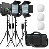 RGB Led Photography Lighting, Pixel 3 Packs Full Color Led Video Lighting Kit, 552PCS LED Beads...