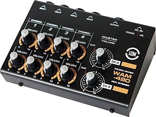 Leem WAM-490 4-Kanal Mini Mixer, Stereo
