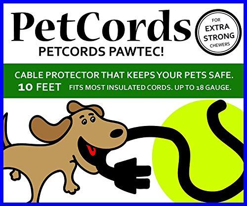 PetCords Robuster, extra starker Schutz für Hunde und Katzen, schützt Ihre Haustiere vor Kauen durch isolierte Kabel bis zu 3 m, für robuste Kauer – geruchlos