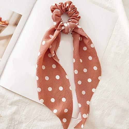 PLI Streamer haarelastiekjes voor dames, met bloemenprint, elastisch haartouw, voor meisjes