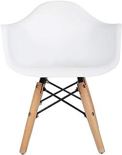 Silla de Cocina Blanca,Silla de Comedor Las Piernas de Madera de Haya Maciza 85 × 53 × 46 cm