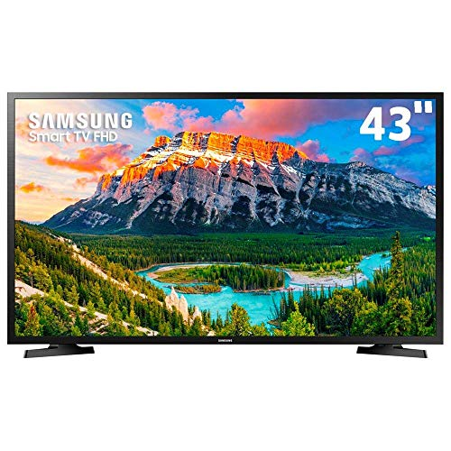 Smart TV LED 43' Samsung 43J5290 Full HD com Conversor Digital 2 HDMI 1 USB Wi-Fi Screen Mirroring + Web Browser - Preta