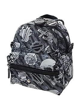 Harley-Davidson Mini-Me Tattoo Grey Polyester Backpack 99668-GY/TAT