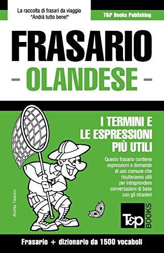 Frasario Italiano-Olandese e dizionario ridotto da 1500 vocaboli