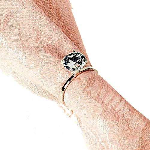 Dozen Faux Diamond Ring Napkin Rings (silver)