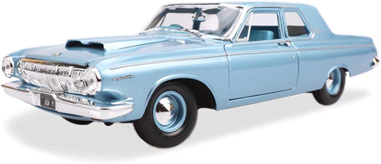 para proporcionarle una compra en línea agradable QARYYQ Modelo de de de Coche Coche 1 18 Dodge 330 1963 aleación de simulación de fundición a Troquel Juguete joyería colección de Coche Deportivo joyería 28.5x11.5x7.5 CM Caja de Almacenamiento de Coche  popular
