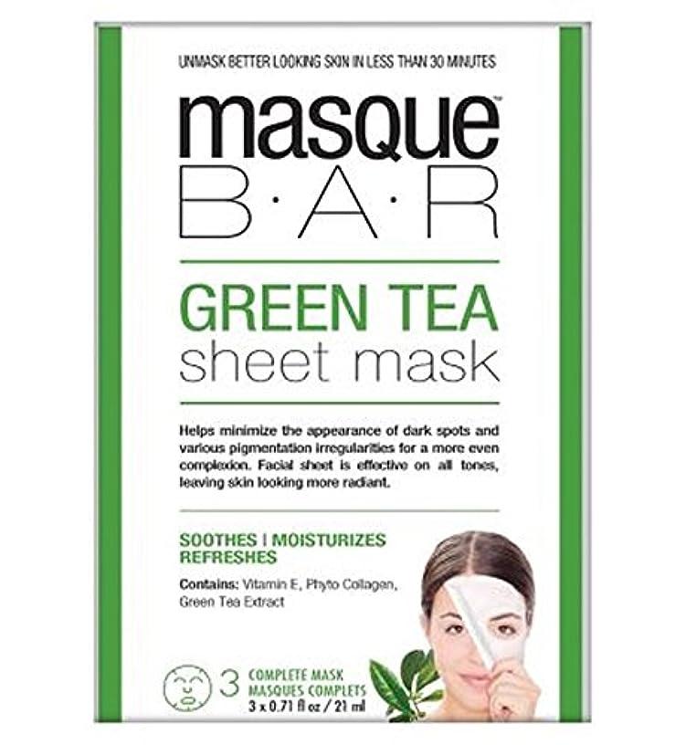 厳密に針十分に仮面劇バー緑茶シートマスク - 3完全なマスク (P6B Masque Bar Bt) (x2) - Masque Bar Green Tea Sheet Mask - 3 complete masks (Pack of 2) [並行輸入品]