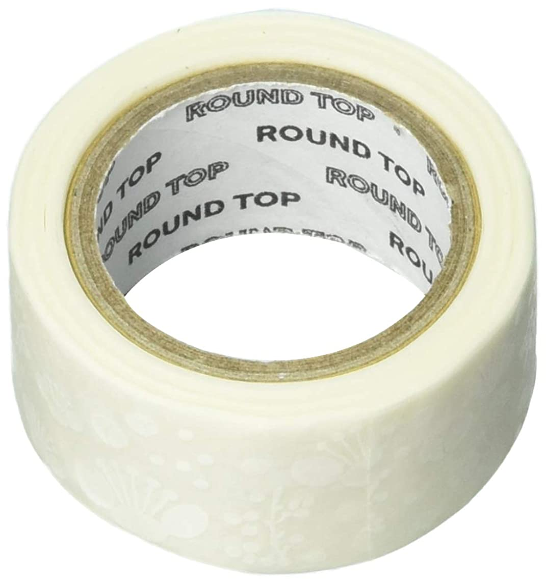Roundtop Designer's Washi Masking Tape 20mm x 8m, Yano Design White Winter, Ume (YD-MK-086)