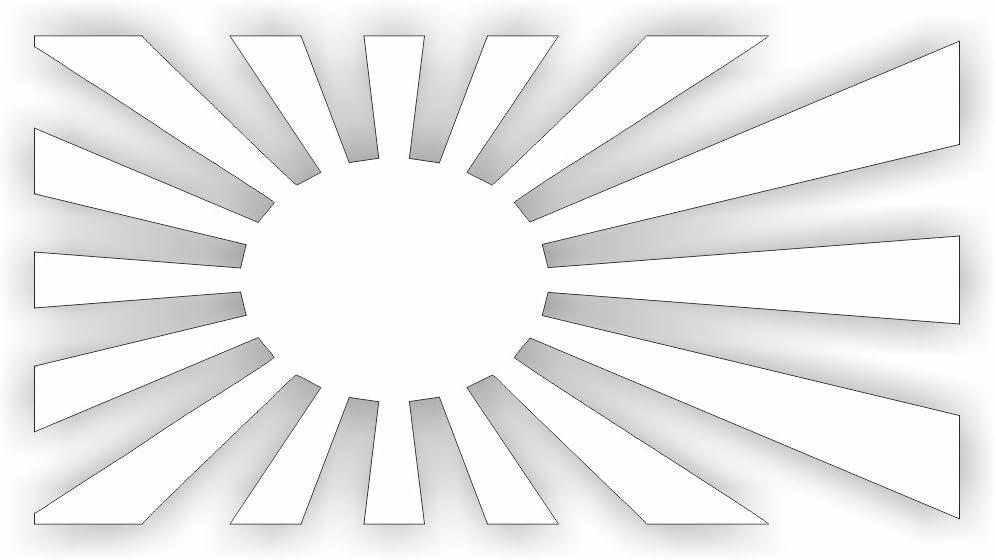 Japan Flagge Kriegsflagge Shocker Hand Auto Aufkleber Jdm Tuning Oem Dub Decal Stickerbomb Bombing Fun W Schwarz Schwarz Schwarz Weiß Auto