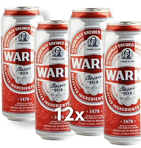 Große Dose 500ml! Warka Premium Classic Beer 12 Dosen im Paket Bier Piwo